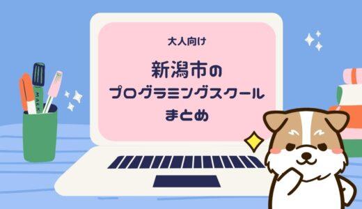 新潟市の大人向けプログラミングスクール一覧まとめ【2021年最新】